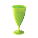 6 verres à eau design plastique rigide vert anis 25 cl