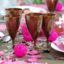6 verres à eau design plastique rigide chocolat 25 cl