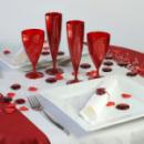 6 verres à vin design plastique rigide rouge carmin 15 cl