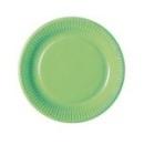 20 assiettes en carton vert amande 23 cm