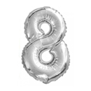 Ballon aluminium chiffre 8 35 m