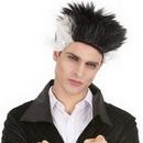 Perruque vampire noire et blanche homme