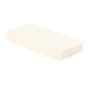 50 serviettes en papier microgaufré double épaisseur blanc 38 cm pliage 1/8