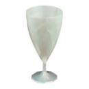 6 verres à vin design plastique rigide blanc Nacré 15 cl