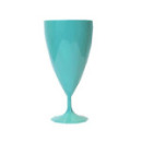 6 verres à vin design plastique rigide turquoise 15 cl