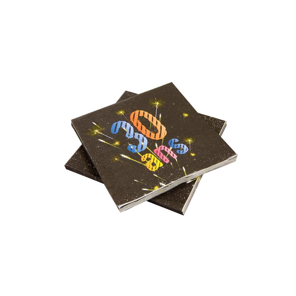 20 serviettes papier 30 ans feux d 39 artifice 33 x 33 cm. Black Bedroom Furniture Sets. Home Design Ideas