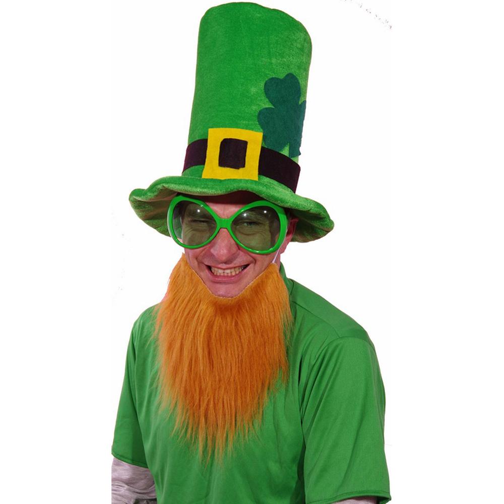 chapeau velours vert avec barbe rousse saint patrick. Black Bedroom Furniture Sets. Home Design Ideas