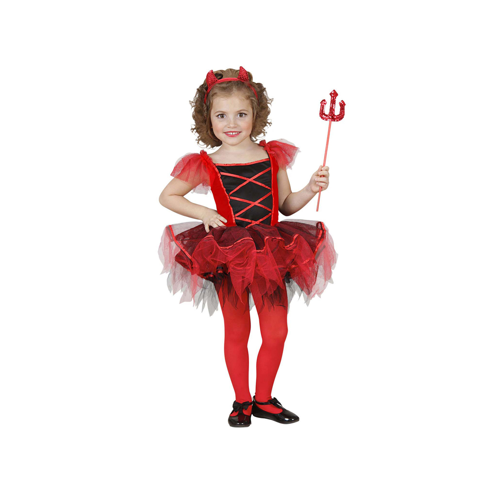 D guisement diablesse tutu fille halloween - Deguisement fille halloween ...