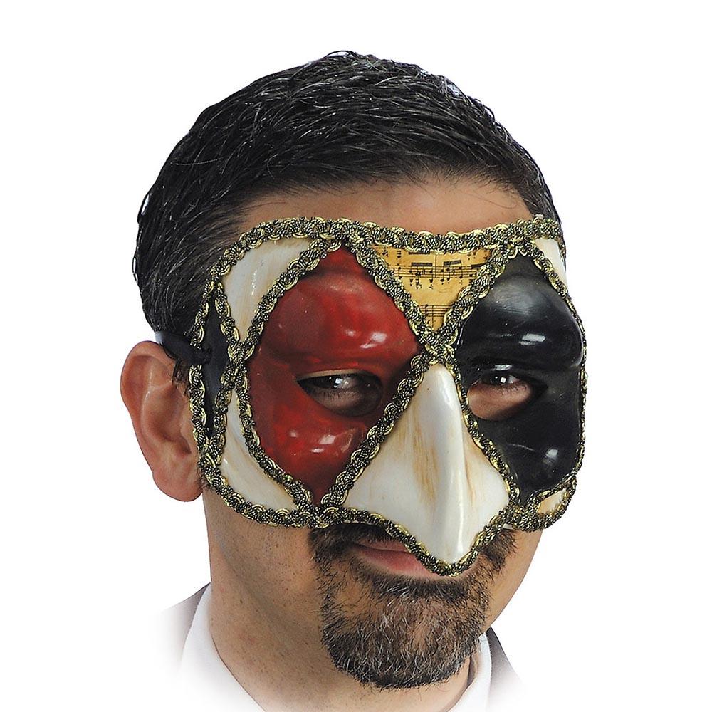 Demi Masque Vénitien Arlequin Adulte