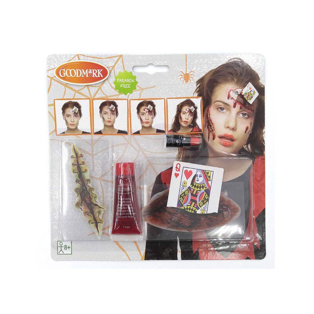 kit maquillage reine de coeur ensanglant e adulte halloween. Black Bedroom Furniture Sets. Home Design Ideas