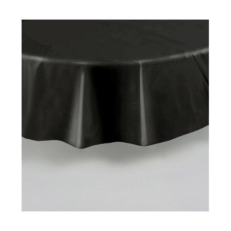 nappe ronde noire en plastique. Black Bedroom Furniture Sets. Home Design Ideas