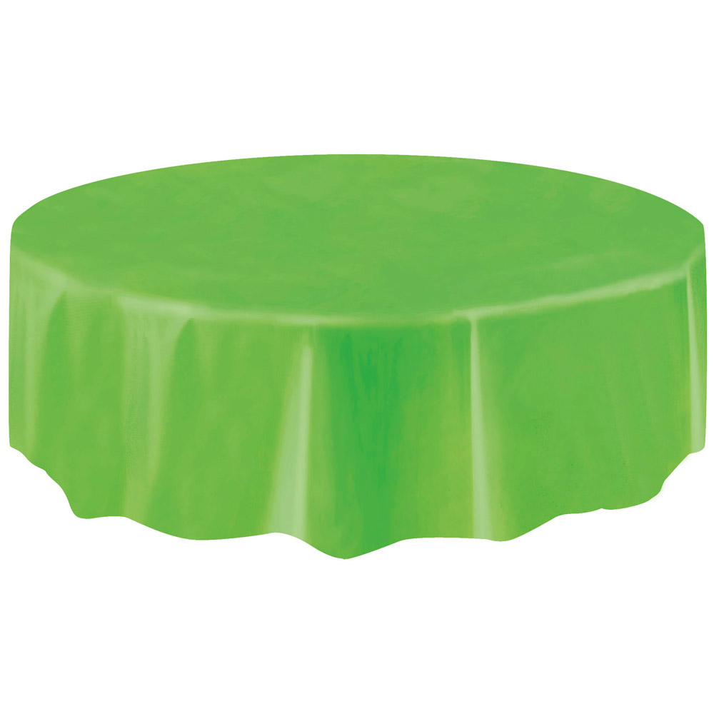 nappe ronde en plastique vert citron. Black Bedroom Furniture Sets. Home Design Ideas