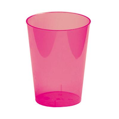 6 verres 30 cl en plastique rigide rose fushsia. Black Bedroom Furniture Sets. Home Design Ideas