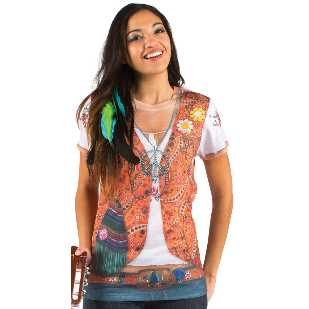 T shirt veste hippie femme for Hippie t shirts australia